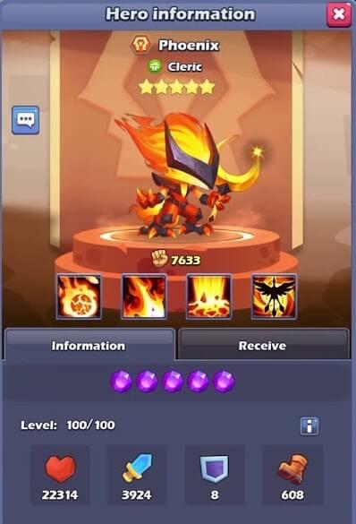Phoenix TapTap Heroes Tier List