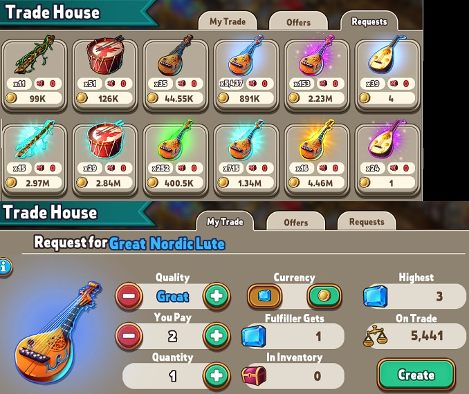Trade House (Gold, Gems & Keys)