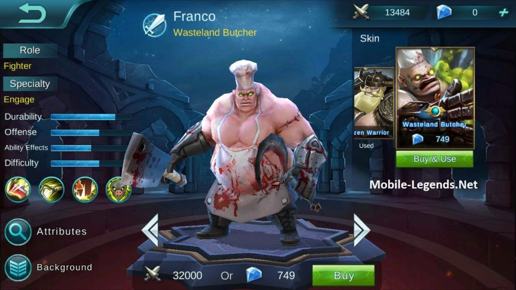 Mobile Legends: tank Franco tutorial - best guide in the Internet