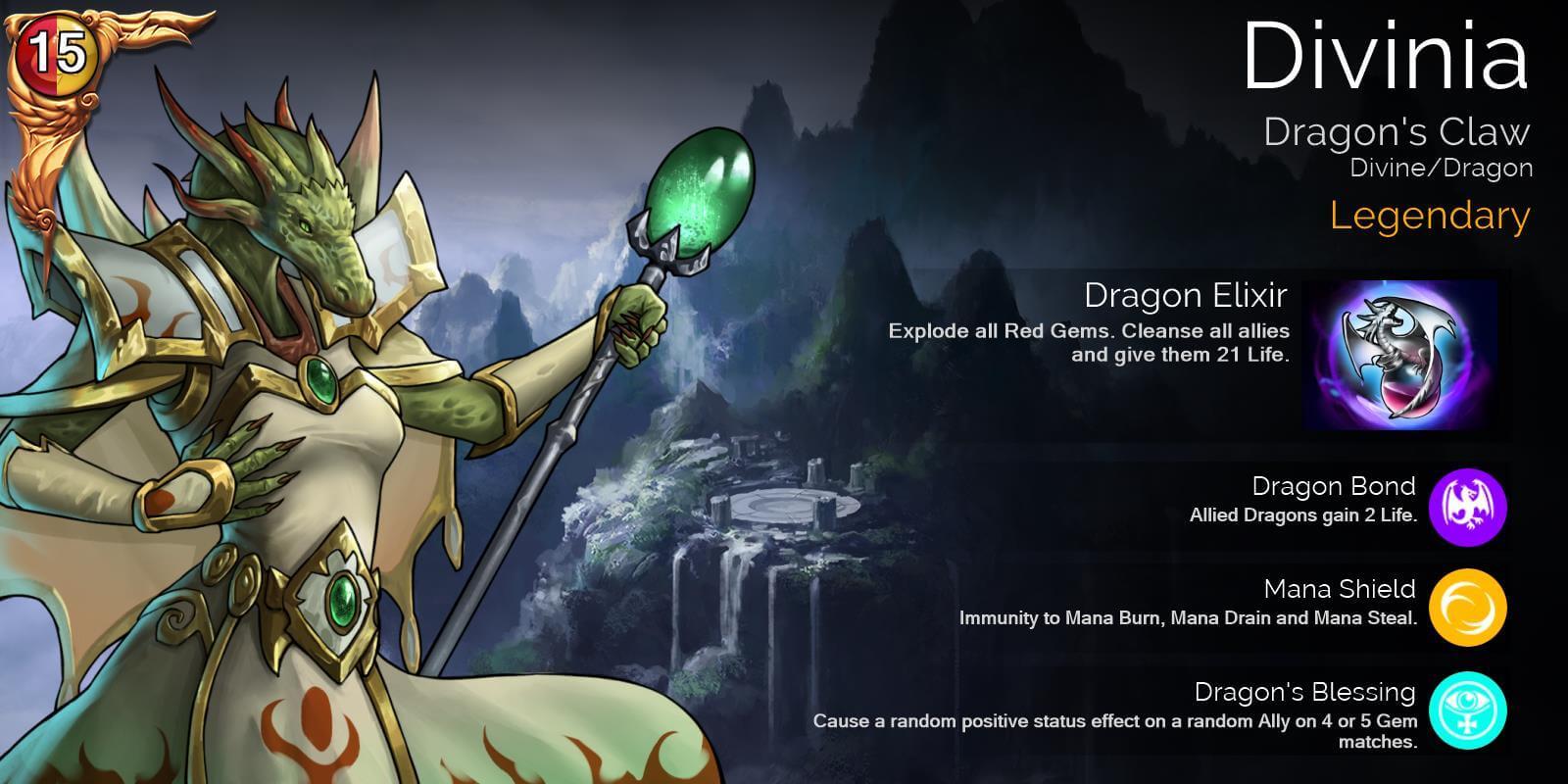 Gems of War - Lista de niveles legendarios de los héroes por fans