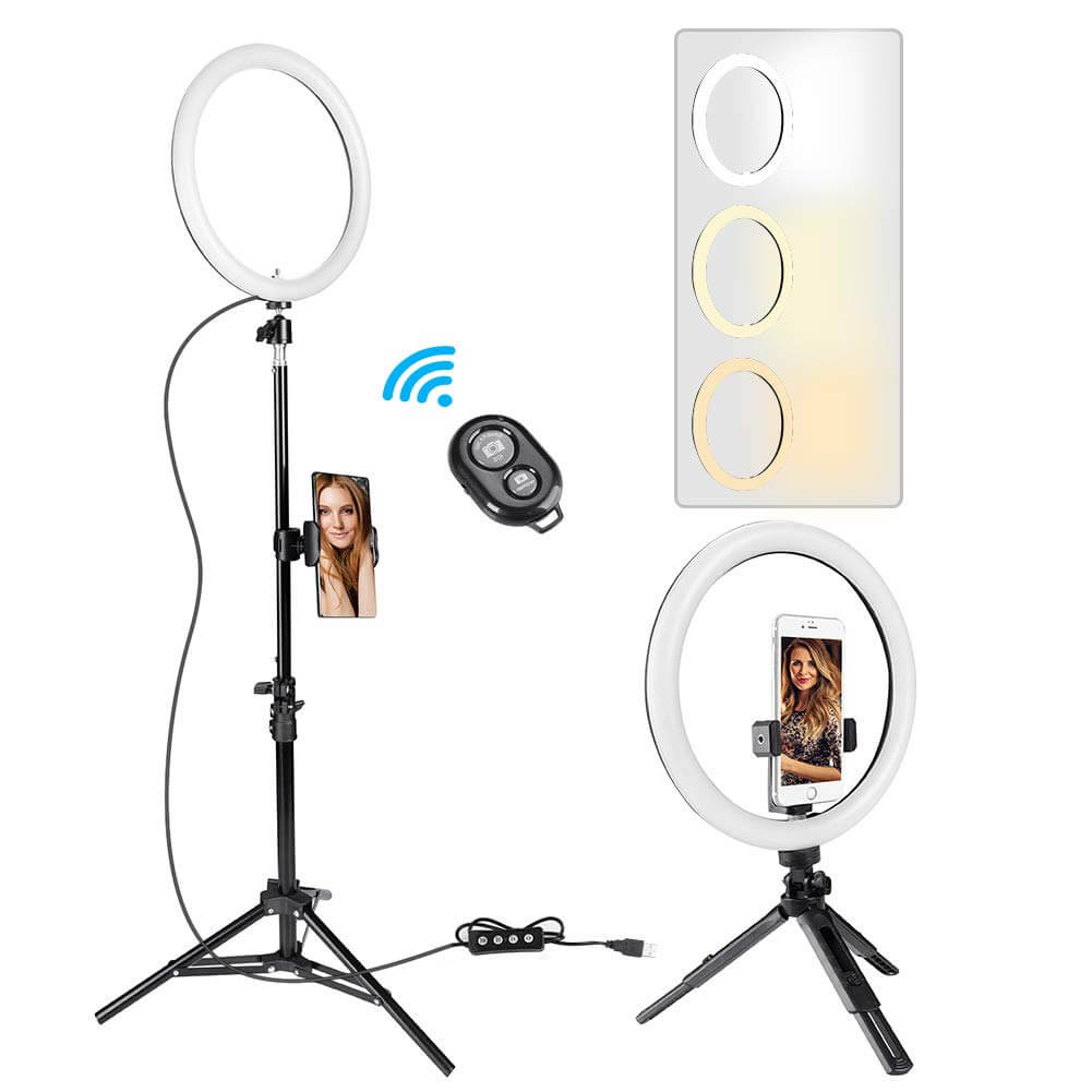 """GIM 10"""" Selfie Ring Light with 59"""" Tripod Stand and Phone Holder"""