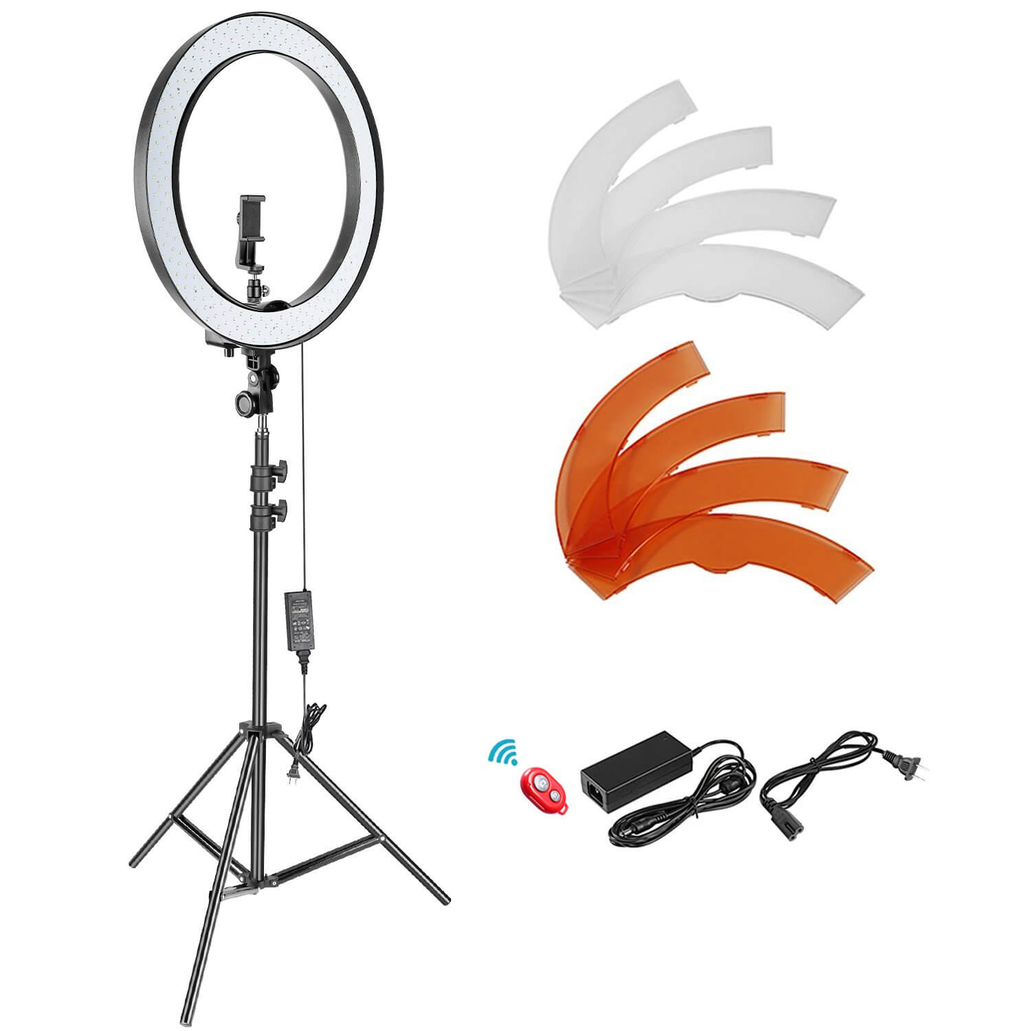 Neewer 18-inch SMD LED Ring Light Dimmable Lighting Kit with 78.7-inch Light Stand